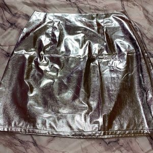 Metallic Mini Skirt .